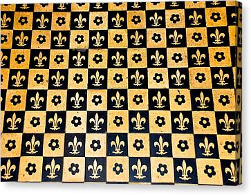 Fleur De Lis Floor Canvas Print by Eric Tressler