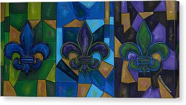 Fleur De Lis Trinity Canvas Print by Patti Schermerhorn