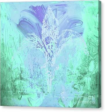 Fleur De Lis Turquoise Canvas Print