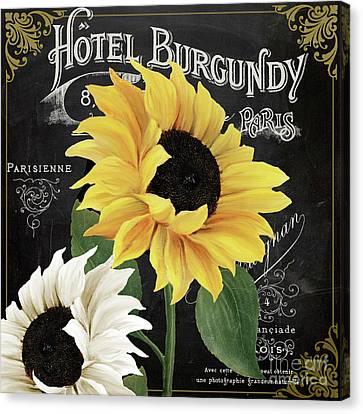 Fleur Du Jour Sunflowers Canvas Print by Mindy Sommers