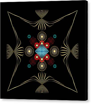 Canvas Print featuring the digital art Fleuron Composition No. 1 by Alan Bennington