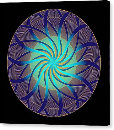 Canvas Print featuring the digital art Fleuron Composition No. 14 by Alan Bennington