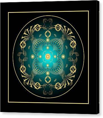 Canvas Print featuring the digital art Fleuron Composition No. 21 by Alan Bennington