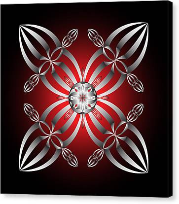 Canvas Print featuring the digital art Fleuron Composition No. 28  by Alan Bennington