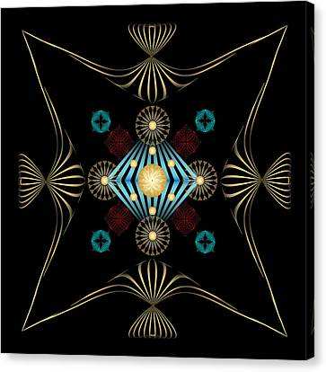 Canvas Print featuring the digital art Fleuron Composition No. 3 by Alan Bennington