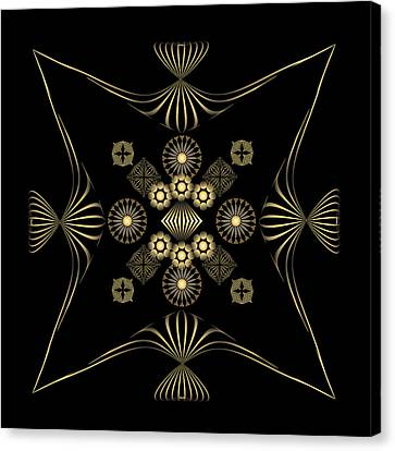 Canvas Print featuring the digital art Fleuron Composition No. 4 by Alan Bennington