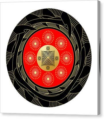 Canvas Print featuring the digital art Fleuron Composition No. 44 by Alan Bennington