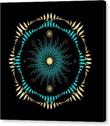 Canvas Print featuring the digital art Fleuron Composition No. 63 by Alan Bennington
