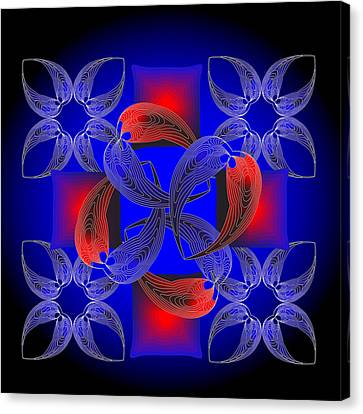 Canvas Print featuring the digital art Fleuron Composition No. 71 by Alan Bennington