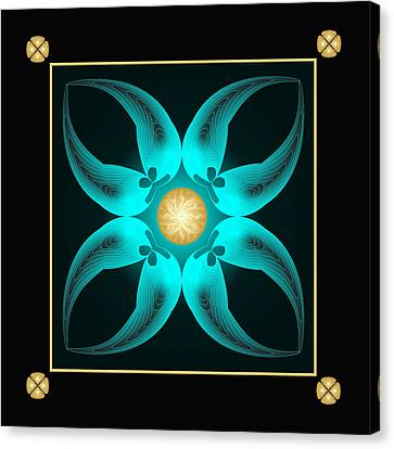 Canvas Print featuring the digital art Fleuron Composition No. 75 by Alan Bennington