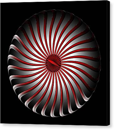 Canvas Print featuring the digital art Fleuron Composition No. 78 by Alan Bennington