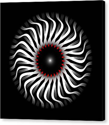 Canvas Print featuring the digital art Fleuron Composition No. 82 by Alan Bennington
