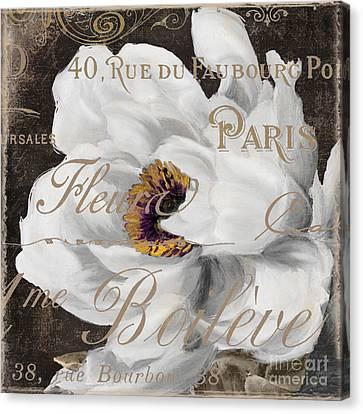 Fleurs Blanc Canvas Print