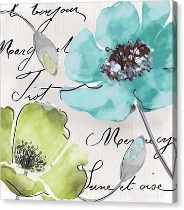 Fleurs De France  Canvas Print by Mindy Sommers