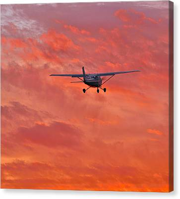 Into The Sunset Canvas Print by Steven Maxx