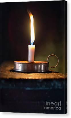 Flickering Light Canvas Print - Flickering Flame by Amanda Elwell