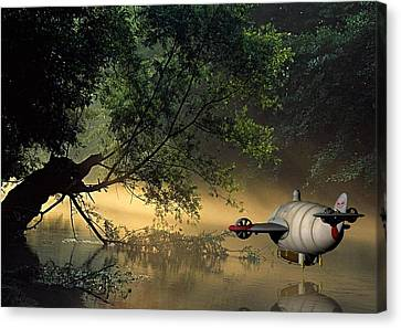 Flight 777 On Time Canvas Print by Marvin Blaine