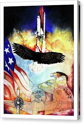 Canvas Print featuring the mixed media Flight by Anthony Burks Sr