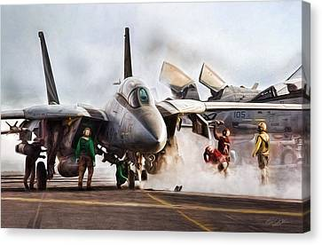Flight Deck Canvas Print by Peter Chilelli