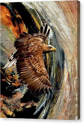 Flight For Freedom  Canvas Print by Georgiana Romanovna