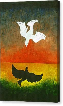 Primitive Canvas Print - Flight II by Wojtek Kowalski