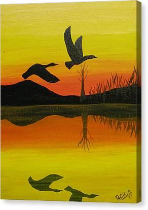 Flight Of Freedom Canvas Print by Doug Wilkie