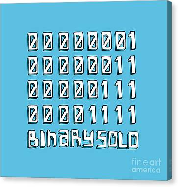 Flight Of The Conchords Binary Solo Robots Humans Are Dead Numbers Canvas Print by Paul Telling