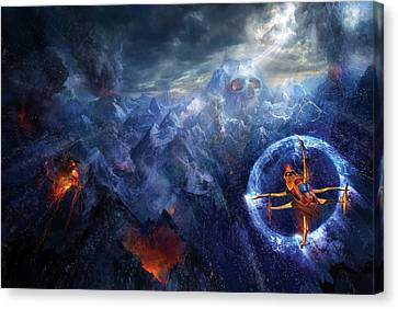 Flight Of The Dying Sun Canvas Print by Philip Straub