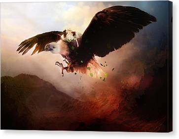 Flight Of The Eagle Canvas Print by Mary Hood