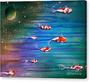 Flight Of The Eventide Canvas Print by Cindy Thornton