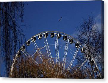 Flight Of The Ferris Canvas Print by Jez C Self