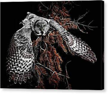 Flight Of The Great Grey Canvas Print