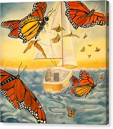 Flight Of The Monarchs Canvas Print