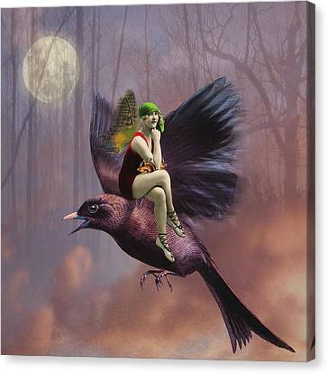 Flight Canvas Print by Olga Snell