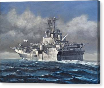 Navy Canvas Print - Flight Ops by Stephen Roberson