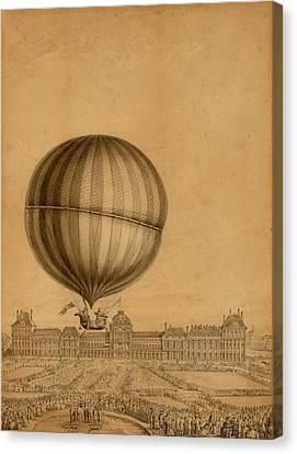 Flight Over Paris Canvas Print