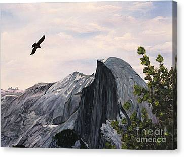 Flight Over Yosemite Canvas Print by Judy Filarecki