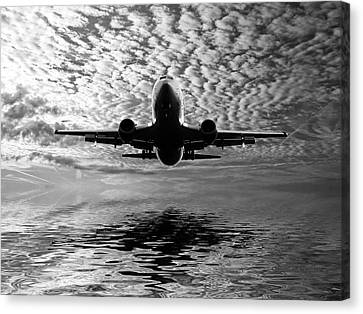Jet Canvas Print - Flight Path 2 by Sharon Lisa Clarke