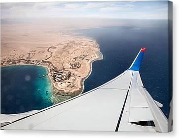 Flight To Egypt Canvas Print by Nailia Schwarz