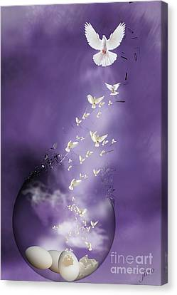 Canvas Print featuring the mixed media Flight To Freedom by Jim  Hatch