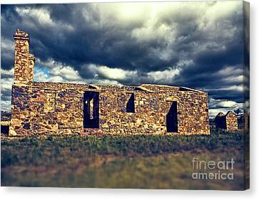 Canvas Print featuring the photograph Flinders Ranges Ruins V2 by Douglas Barnard