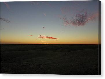 Canvas Print featuring the photograph Flint Hills Dusk by Thomas Bomstad