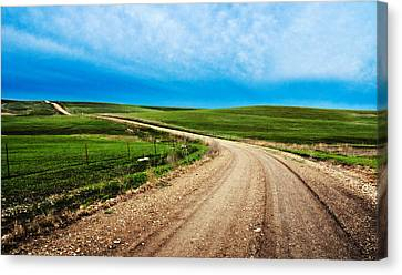 Flint Hills Spring Gravel Canvas Print by Eric Benjamin