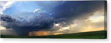 Flint Hills Storm Panorama 2 Canvas Print