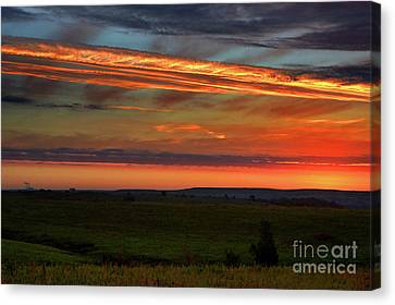 Canvas Print featuring the photograph Flint Hills Sunrise by Thomas Bomstad