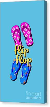 Flip Flop Cell Design Canvas Print by Edward Fielding