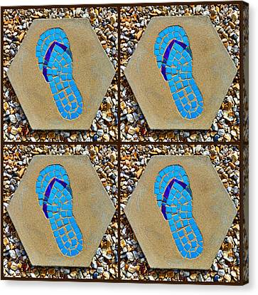 Flip Flop Square Collage Canvas Print