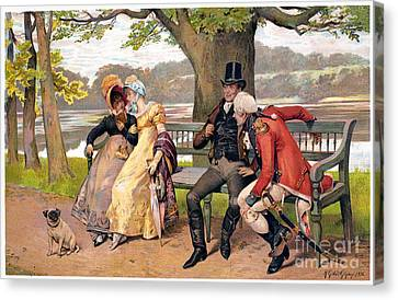 Flirtation, C1810 Canvas Print by Granger