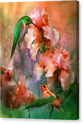 Canvas Print featuring the mixed media Flirting So Sweetly by Carol Cavalaris