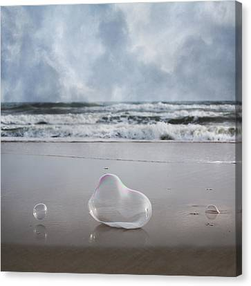 Topsail Island Canvas Print - Float Bounce And Roll by Betsy Knapp